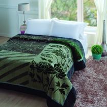 Cobertor Casal Microfibra 1 Peça Raschel Tuily Jolitex Verde 81dd7ba4fa9e6