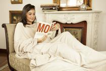 Cobertor com Mangas Bege - Loani