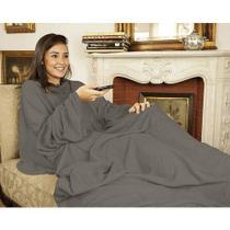 Cobertor com Mangas TV Solteiro Cinza - Loani presentes