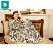 Cobertor com Mangas TV Solteiro Onça - Loani presentes