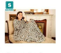 Cobertor com Mangas TV Solteiro Onça - Loani
