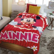 Cobertor com Sherpa Jolitex Solteiro Digital Disney Minnie