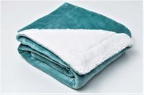 Cobertor de Bebe Berço 1,10x90cm Sherpa 400Gr Aqua Sultan -