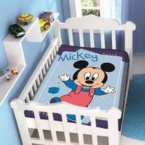 Cobertor  Disney Mickey Passinho Azul - Jolitex