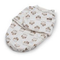 Cobertor Enroladinho Coruja Bege Microfibra Loaní -