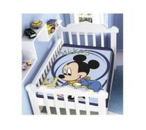 Cobertor Infantil Jolitex 0,90x1,05m Antialergico - Mickey Azul Marinho -