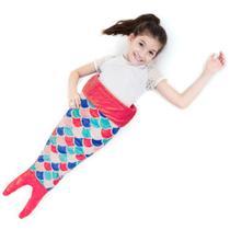 Cobertor Infantil Microfibra Soft Cauda de Sereia Coral - Loani