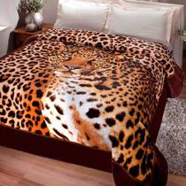 Cobertor Jolitex Casal Kyor Plus 1,80x2,20 Leopardo Promocao -