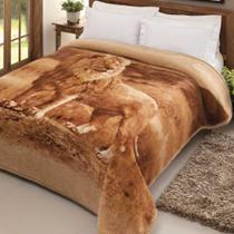 Cobertor Jolitex Casal Tradicional Pêlo Alto Leão -