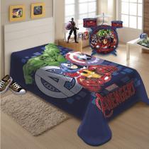 Cobertor Jolitex Solteiro Raschel Macio Avengers Vingadores Marvel -