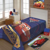 Cobertor Jolitex Solteiro Raschel Macio Disney Carros McQueen -