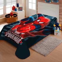 Cobertor Jolitex Solteiro Raschel Macio Homem Aranha Marvel -