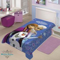 Cobertor Jolitex Solteiro Raschel Toque Macio Disney Frozen -