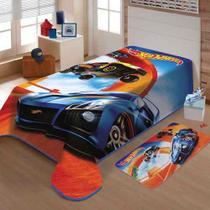 Cobertor Jolitex Solteiro Raschel Toque Macio Hot Wheels Pis -