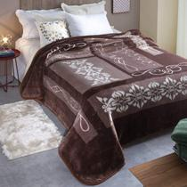 Cobertor King Kyor Plus Positano 1 Peça Microfibra Jolitex Marrom 87176530a1861