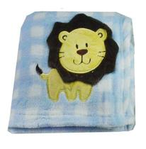 Cobertor Manta Bebê Poá Leãozinho Infantil - Loani