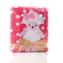 Cobertor Manta de Bebê Ovelhinha Rosa Pink - Loani