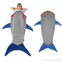 Cobertor Manta Infantil Cauda de Tubarão Cinza - Loani