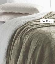 Cobertor Manta Soft Flannel Queen Vermont Sherpa Inter Home - Rozac