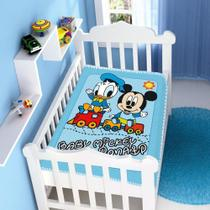 cobertor menino jolitex disney baby mickey e pluto azul -