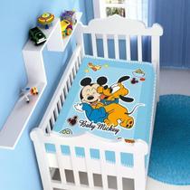 cobertor menino jolitex disney baby Mickey e pluto divertido azul -
