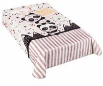 Cobertor para berço Colibri Le Petit - 80 X 110 cm - zoo panda rosa -