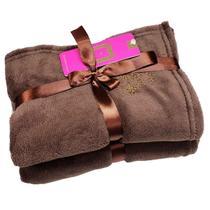 Cobertor para Cachorro e Gato de Microfibra Malloo Chocolate -