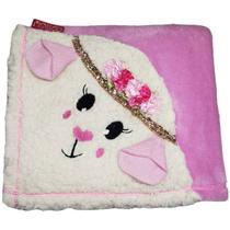 Cobertor para Cachorro e Gato Gigi Malloo Rosa -