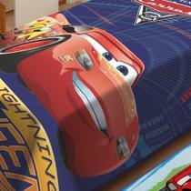Cobertor Raschel Infantil Solteiro Carros Racing Jolitex -