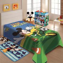 Cobertor Raschel Solteiro Mickey Futebol Disney Jolitex -