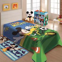 Cobertor Rashel Disney Mickey Futebol 150X200 - Jolitex -