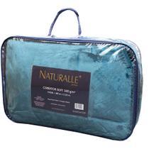 Cobertor Soft Queen 340gr Naturalle Fashion Petróleo -