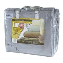Cobertor Solteiro Europa Toque de Luxo 150 x 240cm - Cinza -