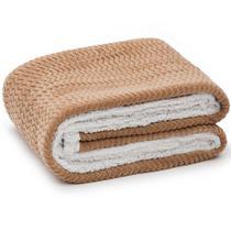 Cobertor Solteiro Microfibra  Sherpa - Loani -