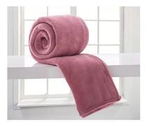 Cobertor Texfine Home Design Manta Microfibra Casal Rosa Antigo Liso - Édecasaenxovais