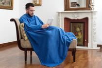 Cobertor Tv Com Mangas Solteiro Macio Fofinho Inverno - Loani