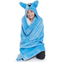 Cobertor TV Infantil Cachorrinho - Azul - Loani -