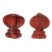 Cobra Naja Esculpida em Madeira 10cm - Bali