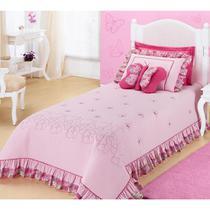 Cobre leito solteiro infantil com bordado 3 pç jardine - Decora Shopping