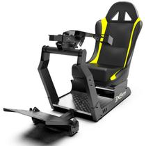 Cockpit Suporte p/ Volantes Simuladores de Corrida VE2 Banco Amarelo. Compatível com Logitech Thrustmaster Fanatec - Extreme simracing
