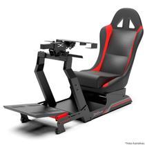 Cockpit Suporte p/ Volantes Simuladores de Corrida VE3 Banco Vermelho. Compatível com Logitech - Extreme Simracing