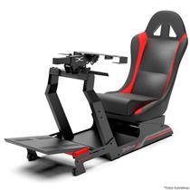 Cockpit Suporte p/ Volantes Simuladores de Corrida VE3 Banco Vermelho. Compatível com Logitech Thrustmaster Fanatec - Extreme Simracing