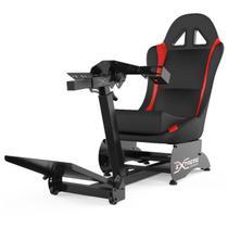 Cockpit Suporte para Volantes Simuladores de Corrida X Retrátil Banco Vermelho, compatível com Logitech, Fanatec e Thrustmaster - Extreme simracing