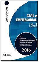 Códigos 4 em 1 Conjugados. Civil, Processo Civil, Comercial e Constituição Federal - Saraiva