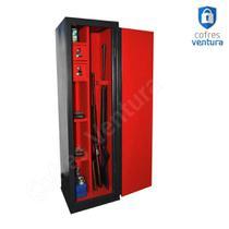 cofre Armário em aço 130x38x35 ideal para 10 peças sendo 04 longas e 06 curtas - Cofres Ventura
