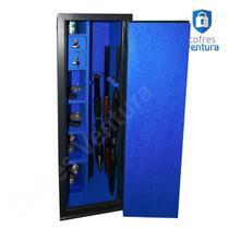 Cofre armário para 12 peças (06 longas e 06 curtas) ventura Diamante 140x42x42 Preto - Cofres Ventura