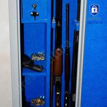 Cofre armário para 14 peças (06 longas e 08 curtas) ventura Carbono 150x42x42 Cinza - Cofres Ventura