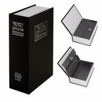 Cofre Camuflado Forma De Livro Dicionário Com Chave Pequeno -