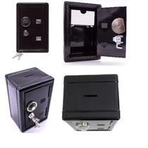 Cofre de segredo e chaves de metal para dinheiro joias segurança cofrinho mecanico retro camuflado mini - Makeda
