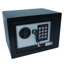 Cofre de Segurança Digital Eletrônico com Senha e Chave de Aço 23x17cm Importway IWCFS-002 -